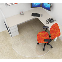 Corner Workstation Chair Mat